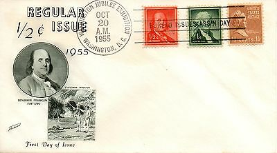 US FDC #1030 Franklin Unofficial, Fleetwood (6050)