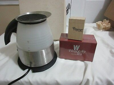 RUSSELL HOBBS Electric Hot Water Tea KETTLE Stainless Steel  & Wissotzky lot