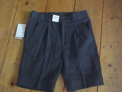 Bnwt Boys School Shorts. Grey. Sz:6. Target. Adjust Waist. Good Quality
