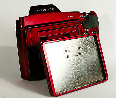 Nikon L840 Red Rear cover with Hinged LCD Holder part for Repair