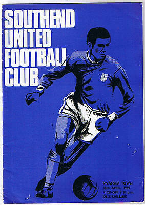 Southend United v Swansea Town 1968/9