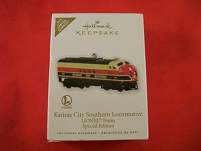 LIONEL TRAINS Kansas City Southern Locomotive Hallmark Keepsake Ornament NEW!!