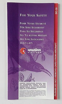 Hawaiian Airlines DC-10  Safety Card