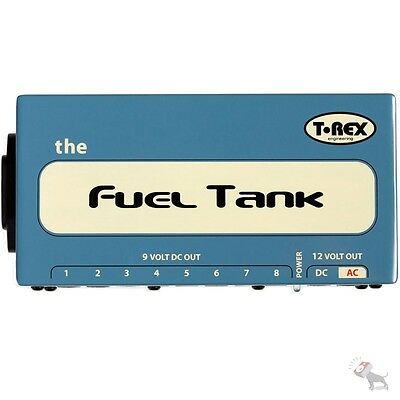 T-Rex Fuel Tank Classic Effects Guitar Pedal Board Power Supply 9v 12v AC DC