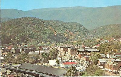 Vintage CLIFTON FORGE, Panorama View Showing C & O RAILWAY YARDS, Virginia