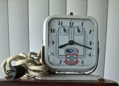PURINA POULTRY CHOWS Everhot Electric Feed Clock 1930's