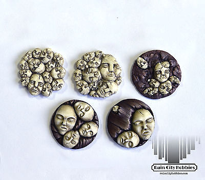 Small Face base inserts x5 - Resin - Kingdom Death