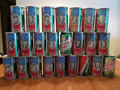 Vintage Soda Pop Can Lot 24 Case Canada Dry Ginger Ale Bicentennial President