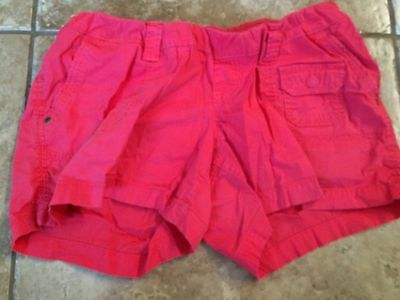 Motherhood Maternity Large L Pink Shorts Sexy Casual Cargo Below Belly Band