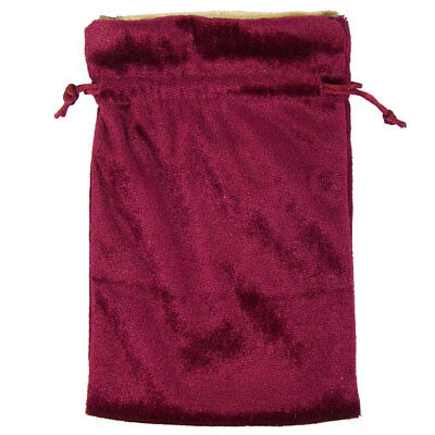 "NEW Red and Gold Velvet Drawstring Bag Tarot Runes Crystals 5x7"" Pouch Burgundy"