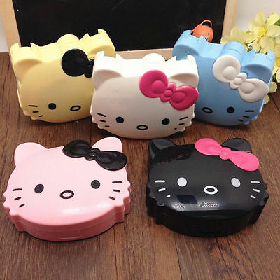HelloKitty Design Contact Lens Case Soak Storage Cosmetic Box LM-D29a1 Blue