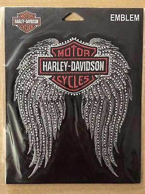 HARLEY DAVIDSON Studded Winged B&S 6.5 INCH HARLEY PATCH