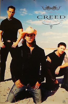 Creed 23x35 Weathered World Tour Music Poster 2002