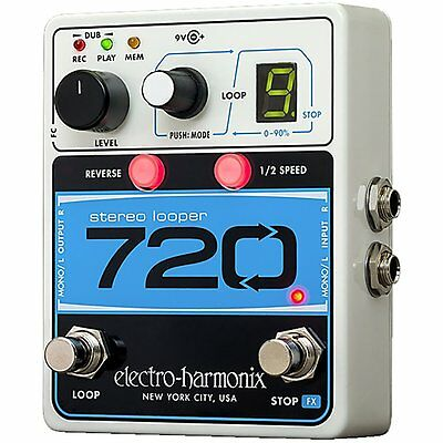 Electro-Harmonix 720 Stereo Looper Stereo Recording Looping Guitar Effects Pedal