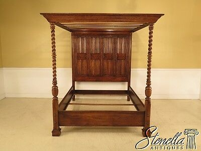 41171: ETHAN ALLEN Royal Charter Oak Queen Size Canopy Bed