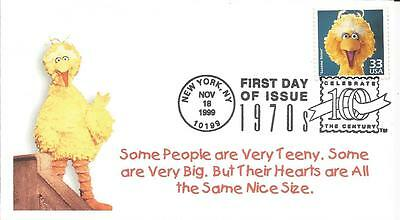 3189c SESAME STREET BIG BIRD FDC - GREAT SOUTHERN COVER CO CACHET