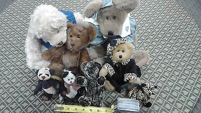 Plush Bears- Cottage Collectibles by Ganz & Boyd BEARS  minky LOT OF 7