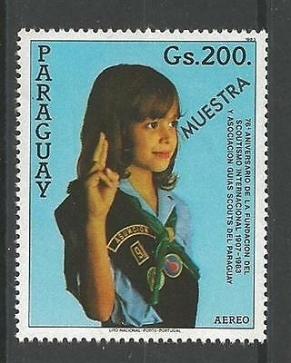 1984 Girl Scouts Paraguay 75th anniversary 'Muestra' Specimen