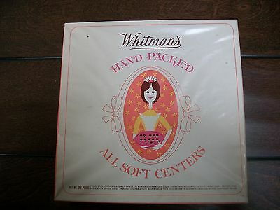 Vintage Empty Whitman's All Soft Centers Cardboard 1 Lb. Candy Box Pa