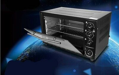 New 35L Commercial Black Multi-function Baking Tool Benchtop Electric Oven #