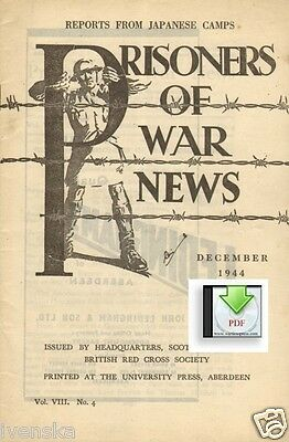 CD File Prisoners of War News 1944 Reports From Japanese Camps POW Stalag IV A