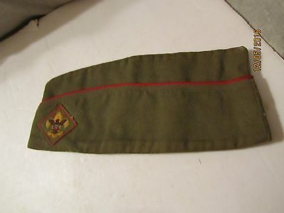 Vintage Boy Scout of America Sanforized Green Hat Size 6 3/4 to 6 7/8 Medium