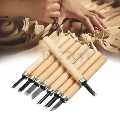 8Pcs Wood Carving Hand Chisel Set Woodworking Working Turning Lathe Gouges Tools