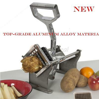 Potato French Fry Fruit Vegetable Cutter Slicer Commercial Cutting W/3 Blades