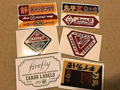 Firefly Lootcrate Exclusive Replica Cargo Sticker Set NEW