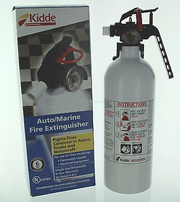 Kidde Mariner 5 Fire Extinguisher with Pressure Gauge and Mounting Bracket, NIB