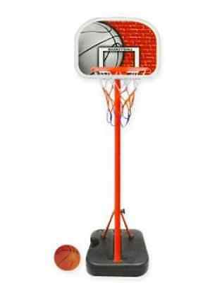 Portable Adjustable Height Basketball Stand System Net Ring Hoop Junior Set