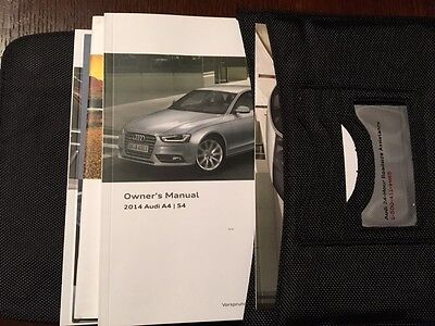2014 Audi A4 S4 Owners Manual Set With Case
