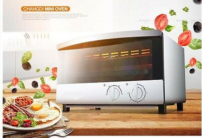 12L Home Commercial Silver Multi-function Baking Tool Benchtop Electric Oven *