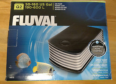 Fluval Q2 Air Pump 50-160 Gallon