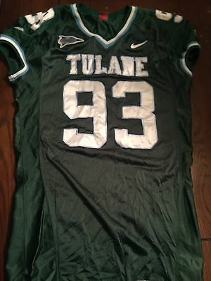 Tulane Green Wave Game used worn Green Jersey #93 XXL Extra Large 2x