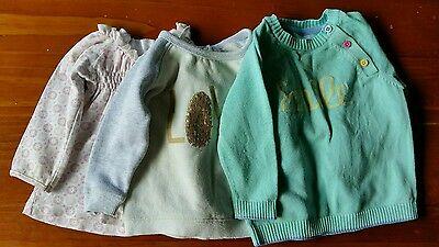 Baby girls jumpers size 0-1