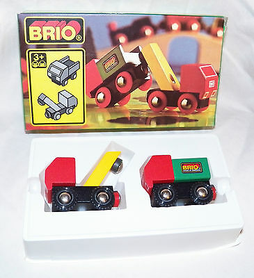 VTG 80's Brio Osby Made IN Sweden 33521 Tow Truck 2 pc In Org Box Train