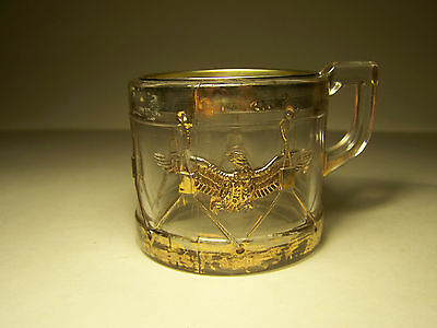 Eagle Mug With Closure Glass Candy Container