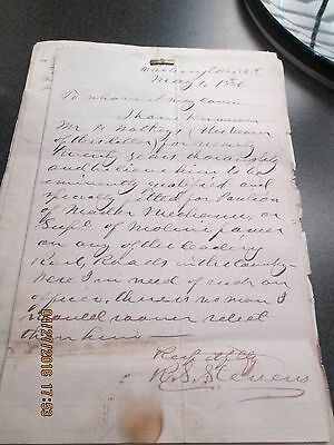 Late 1880s Letters of Endorsement of Henry Watkeys & Photos of Henry & Wife