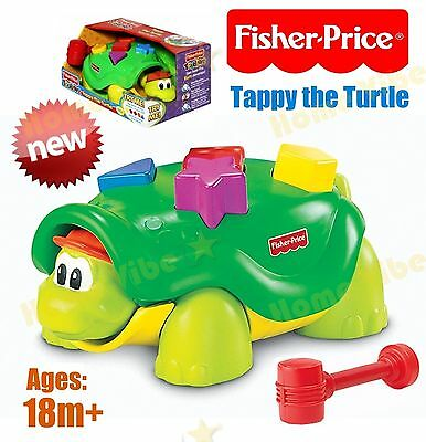 NEW Fisher Price Toddlers Tappy the Turtle Kids Gift Toy -  Age 18 Months+