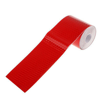 """2""""X10' 3M Red Reflective Safety Warning Conspicuity Tape Film Sticker Roll Strip"""