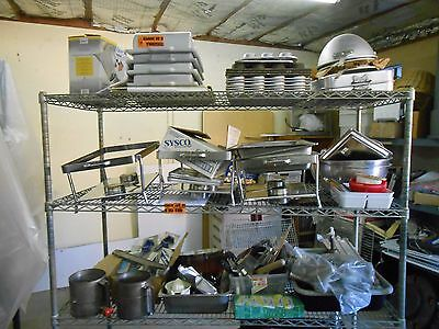 Lot of Kitchen/Restaurant/Small wares BUYER TAKES ALL, Rack Sold Seperately