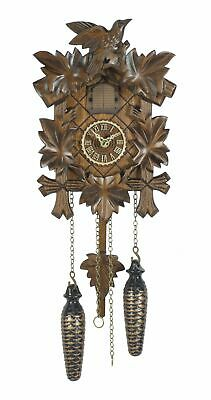 Quartz Cuckoo Clock 5 leaves, bird, with music TU 412 QM NEW