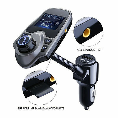 FM Transmitter Handsfree Bluetooth Car MP3 Radio Player Charger Kit for iPhone 7