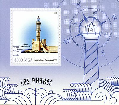 Madagascar 2016 MNH Lighthouses 1v S/S Chania Lighthouse Stamps