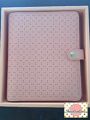 Kikki K PEACH large A5 perforated personal planner diary agenda