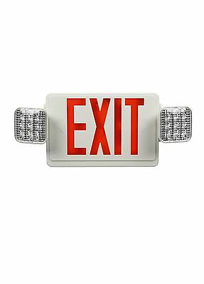 Red LED Exit Sign/Emergency Light. Remote Head Capable