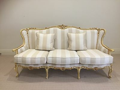 Exquisite Antique French Louis XV Settee / 3 seater Sofa -Simply Stunning!