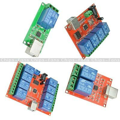 5V/12V USB Relay 1/2/4/8 Ch Programmable Computer Control Relay For Smart Home