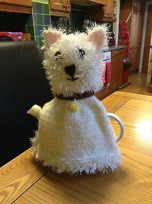 Hand Knitted Westie 2 Pot Tea Cosy